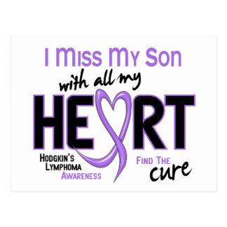 Hodgkins Lymphoma Miss With All My Heart Son Postcard