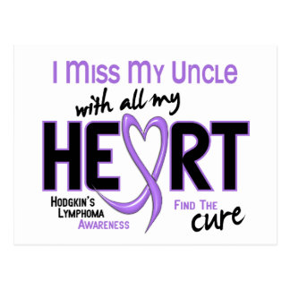Hodgkins Lymphoma Miss With All My Heart Uncle Postcard