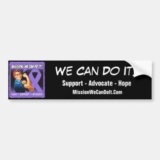 Hodgkin's Lymphoma Mission We Can Do It Car Bumper Sticker
