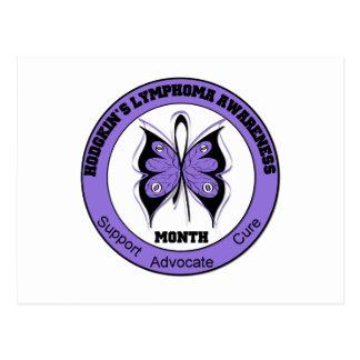 Hodgkins Lymphoma Month Butterfly Circle Postcard
