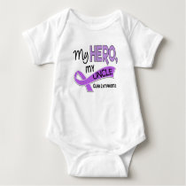 Hodgkin's Lymphoma MY HERO MY UNCLE 42 Baby Bodysuit