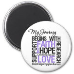 Hodgkins Lymphoma My Journey Begins With FAITH 2 Inch Round Magnet