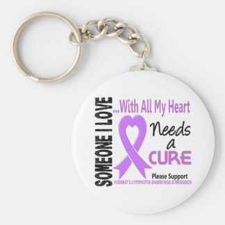 Hodgkins Lymphoma Needs A Cure 3 Basic Round Button Keychain