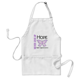 Hodgkins Lymphoma Never Give Up Hope Butterfly 4.1 Adult Apron