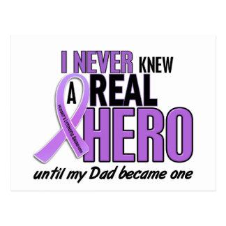 Hodgkins Lymphoma NEVER KNEW A HERO 2 Dad Postcard
