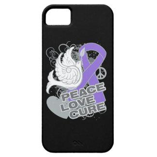 Hodgkins Lymphoma Peace Love Cure iPhone 5 Cover