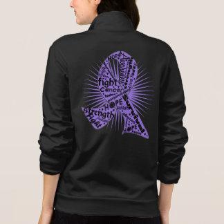 Hodgkins Lymphoma Powerful Ribbon Slogans Printed Jacket
