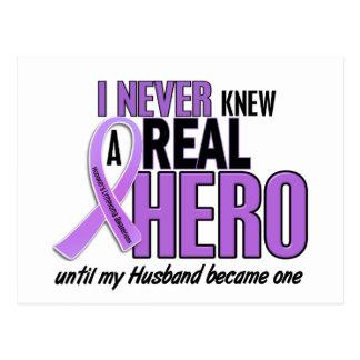 Hodgkins Lymphoma REAL HERO 2 Husband Postcard