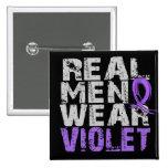 Hodgkin's Lymphoma Real Men Wear Violet Pins