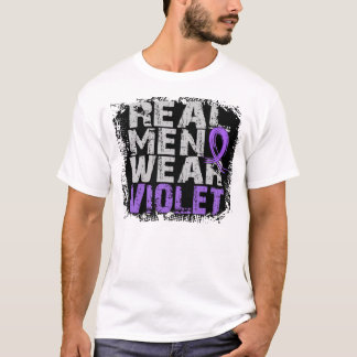 Hodgkin's Lymphoma Real Men Wear Violet T-Shirt