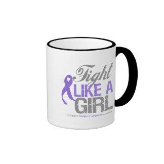 Hodgkins Lymphoma Ribbon - Fight Like a Girl Coffee Mugs