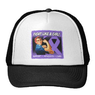 Hodgkins Lymphoma Rosie Riveter Fight Like a Girl Trucker Hat