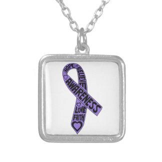 Hodgkins Lymphoma Slogans Ribbon Jewelry