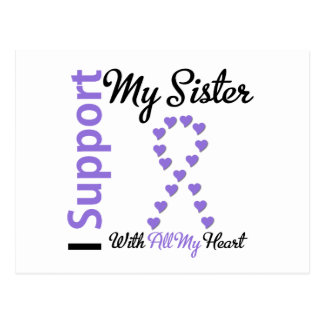 Hodgkins Lymphoma Support Sister Postcards