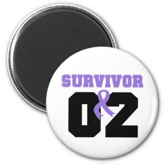 Hodgkins Lymphoma Survivor 02 Years Refrigerator Magnets