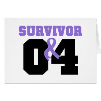 Hodgkins Lymphoma Survivor 04 Years Cards