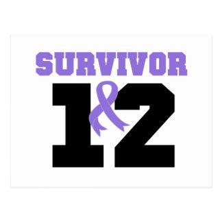 Hodgkins Lymphoma Survivor 12 Years Post Card
