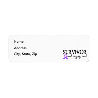 Hodgkin's Lymphoma Survivor 18 Label