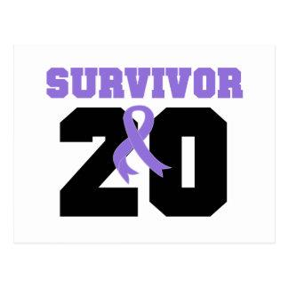 Hodgkins Lymphoma Survivor 20 Years Post Card