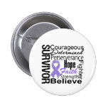 Hodgkins Lymphoma Survivor Collage Button