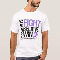 Hodgkins Lymphoma Survivor Fight Believe Win Motto T-Shirt
