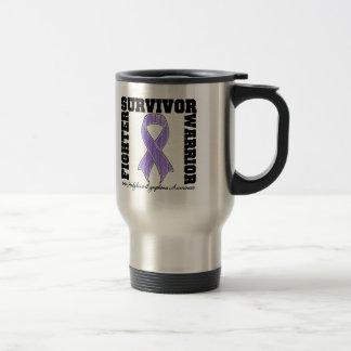 Hodgkins Lymphoma Survivor Fighter Warrior 15 Oz Stainless Steel Travel Mug