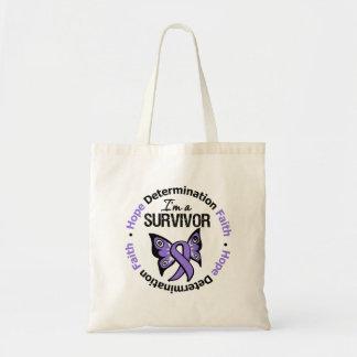 Hodgkin's Lymphoma Survivor Hope Determination Fai Tote Bag