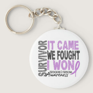 Hodgkins Lymphoma Survivor It Came We Fought I Won Keychain