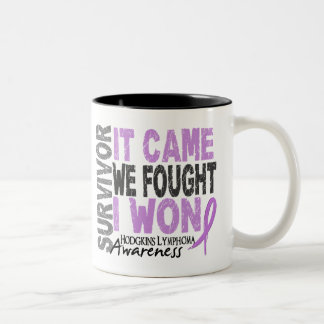Hodgkins Lymphoma Survivor It Came We Fought I Won Two-Tone Coffee Mug