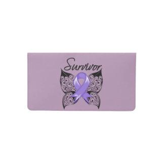 Hodgkins Lymphoma Survivor Ribbon Butterfly Checkbook Cover