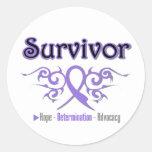 Hodgkins Lymphoma Survivor Tribal Ribbon Sticker