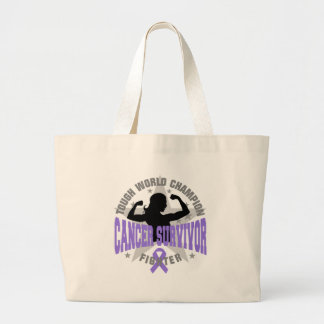 Hodgkin's Lymphoma Tough Survivor Tote Bags