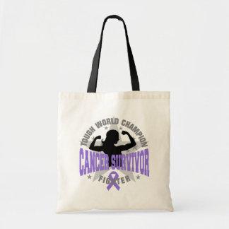 Hodgkin's Lymphoma Tough Survivor Tote Bag