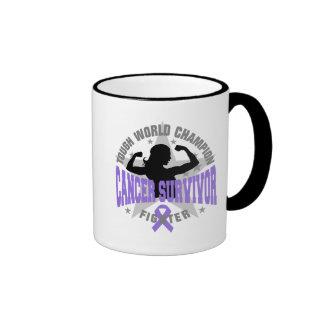 Hodgkin's Lymphoma Tough Survivor Ringer Coffee Mug