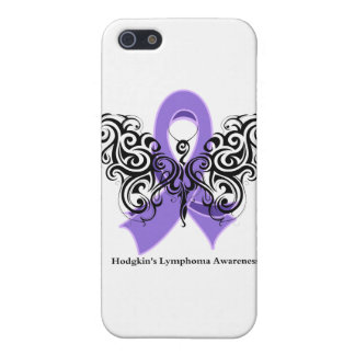 Hodgkin's Lymphoma Tribal Butterfly Ribbon iPhone 5 Cases
