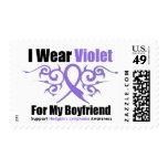 Hodgkins Lymphoma Tribal Ribbon For My Boyfriend Postage Stamp