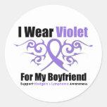 Hodgkins Lymphoma Tribal Ribbon For My Boyfriend Stickers