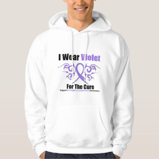 Hodgkins Lymphoma Tribal Ribbon For The Cure Hoodie