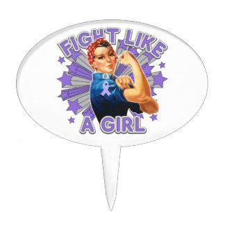 Hodgkin's Lymphoma Vintage Rosie Fight Like A Girl Cake Picks