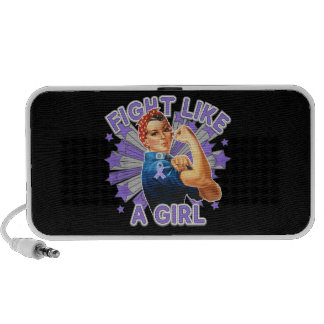 Hodgkin's Lymphoma Vintage Rosie Fight Like A Girl Portable Speakers