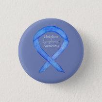 Hodgkins Lymphoma Violet Awareness Ribbon Button