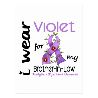 Hodgkins Lymphoma Violet For My Brother-In-Law Postcard