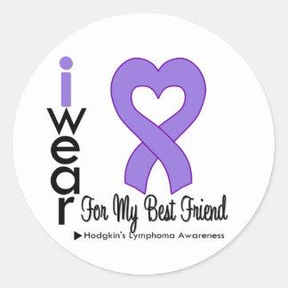 Hodgkins Lymphoma Violet Heart Support Best Friend Stickers