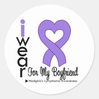 Hodgkins Lymphoma Violet Heart Support Boyfriend Stickers