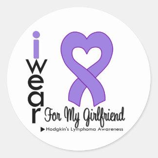 Hodgkins Lymphoma Violet Heart Support Girlfriend Stickers