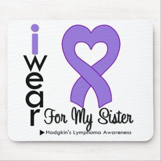 Hodgkins Lymphoma Violet Heart Support Sister Mouse Mats
