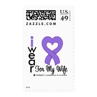 Hodgkins Lymphoma Violet Heart Support Wife Postage