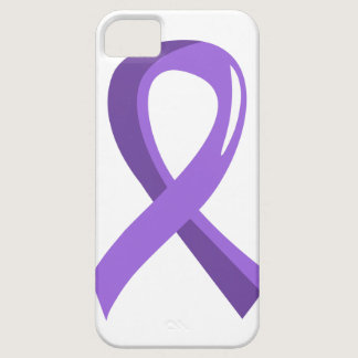 Hodgkin's Lymphoma Violet Ribbon 3 iPhone SE/5/5s Case