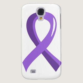 Hodgkin's Lymphoma Violet Ribbon 3 Samsung Galaxy S4 Case