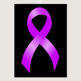 Hodgkins Lymphoma Violet Ribbon Card